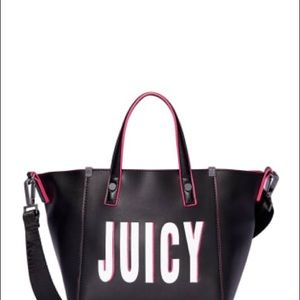 Juicy Couture Embroidered Black Pink SportLogo Bag